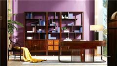 東成紅木 東成·文宋 黑酸枝書房 黑酸枝書臺 知境書房 當代中式家具 闊葉黃檀新中式 新中式書房系列