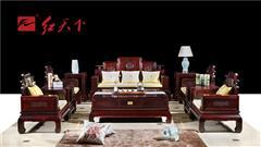 紅天下 中式家具 中國風家具 明清古典  國標紅木 傳統工藝 榫卯制作 闊葉黃檀 黑酸枝 印尼黑酸枝 客廳 大堂東方祥云11件套沙發