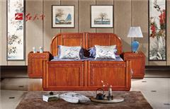 红天下 中式家具 中国风家具 明清古典 榫卯制作 媲美红木 小巴花 卧房 国色天香大床
