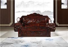 九寶紅木 紅木家具印尼黑酸枝(學名:闊葉黃檀)古典家具明清古典雕花大床臥房系列中式大床