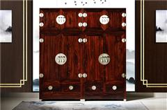 九宝红木 红木家具印尼黑酸枝(学名:阔叶黄檀)古典家具素面顶箱柜卧房系列中式大衣柜