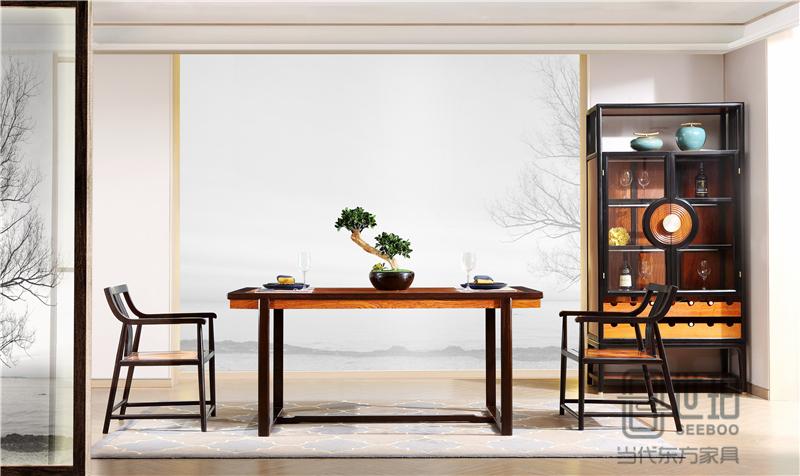 憶古軒·世珀 新中式家具 當代東方家具 淺漾餐廳組合 刺猬紫檀餐臺