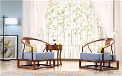 忆古轩·世珀 新中式家具 现代西方家具 无畏休闲椅 刺猬紫檀休闲椅