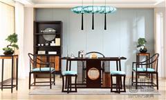 忆古轩·世珀 新中式家具 当代东方家具 无畏茶室组合 刺猬紫檀茶台  红木茶室系列