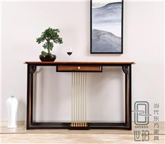忆古轩·世珀 新中式家具 当代东方家具 无畏玄关 刺猬紫檀条案 红木客厅系列