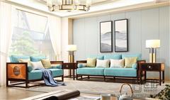 忆古轩·世珀 新中式家具 当代东方家具 无畏客厅组合 刺猬紫檀沙发 红木客厅系列