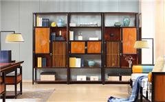 忆古轩·世珀 新中式家具 现代西方家具 浅漾组合厅柜 刺猬紫檀家具