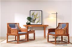 忆古轩·世珀 新中式家具 当代东方家具 庭前休闲椅 刺猬紫檀家具