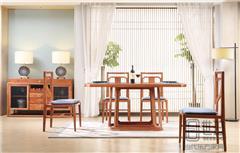 忆古轩·世珀 新中式家具 当代东方家具 万合餐厅组合 刺猬紫檀餐桌 红木餐厅系列
