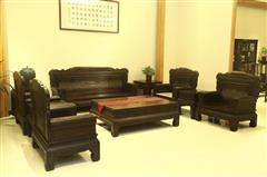 雅仕轩红木 黑酸枝兰亭序沙发 客厅系列 新古典家具