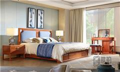 忆古轩·世珀 新中式家具 当代东方家具 万合卧房组合 刺猬紫檀大床 红木卧室系列