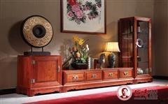 国寿红木 缅甸花梨家具 如意组合电视柜 如意组合矮柜 如意组合高柜