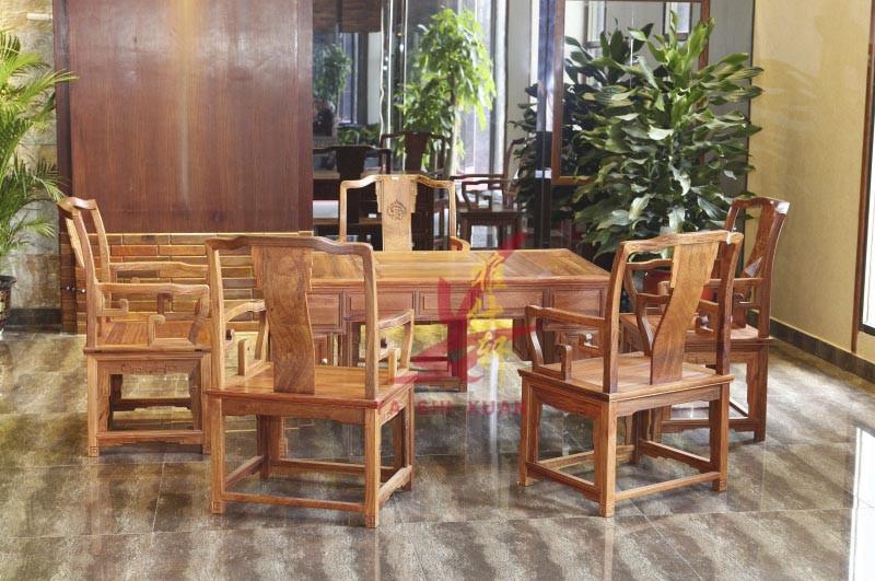 雅仕軒紅木 緬甸花梨(大果紫檀) 明式茶臺茶桌 客廳系列 休閑系列 新古典紅木家具