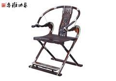 鲁班木艺 红木交椅 大红酸枝交椅 麒麟交椅