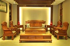 雅仕轩红木 缅甸花梨(大果紫檀)东方之韵沙发+1.76米洋花电视柜地柜 客厅系列 新古典红木家具