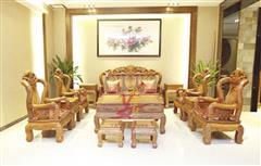 雅仕轩红木 缅甸花梨(大果紫檀)金玉满堂沙发 客厅系列 新古典红木家具