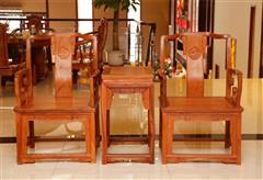 雅仕轩红木 缅甸花梨(大果紫檀)太师椅 客厅系列 休闲系列 新古典红木家具