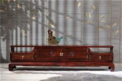 恒达木业 红木家具印尼黑酸枝(学名:阔叶黄檀)品韵系列电视柜客厅系列中式家具
