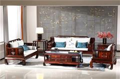 恒达木业 阔叶黄檀 红木家具 中式红木 客厅系列 红木沙发 诗韵沙发