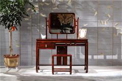 恒达木业 阔叶黄檀 红木家具 中式红木 卧室系列 红木梳妆台 诗韵梳妆台