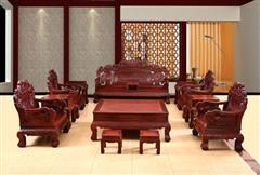 创辉红木 月堂坊 东非黑酸枝文宝沙发13件套(1+2+3) 客厅系列 新古典沙发