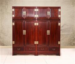 創輝紅木 月堂坊 東非黑酸枝頂箱柜衣柜1對 臥室套房系列  新古典家具