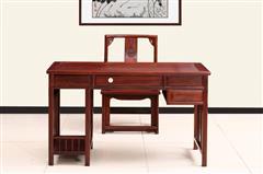 创辉红木 月堂坊 东非黑酸枝 电脑桌2件套 书房系列 办公系列 新古典家具