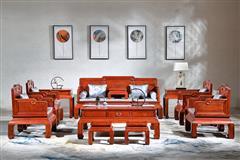 华厦·大不同 大果紫檀 缅甸花梨 中式家具 红木家具 古典家具 新古典家具 中式客厅 客厅系列 忆江南沙发6件套