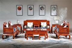 華廈·大不同 大果紫檀 緬甸花梨 中式家具 紅木家具 古典家具 新古典家具 中式客廳 客廳系列 中式沙發 珠聯璧合沙發13件套