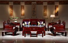 華廈·大不同 紅酸枝 巴里黃檀 中式家具 紅木家具 古典家具 新古典家具 中式客廳 紅木沙發 客廳系列 幸福綿綿沙發13件套