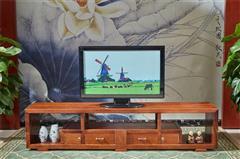 雍博堂红木 缅甸花梨(大果紫檀)2.2米整版电视柜地柜 客厅系列 新古典红木家具