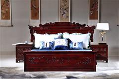 华厦·大不同 大红酸枝 中式家具 红木家具 古典家具 新古典家具 中式卧房 卧房系列 兰亭序大床3件套