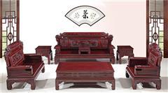今典居·木雲山 东非酸枝财源滚滚沙发 客厅系列 新古典家具
