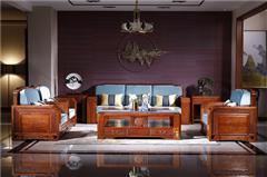 纯本森活 红木家具缅甸花梨(学名:大果紫檀)新古典客厅系列水木清华沙发中式大沙发