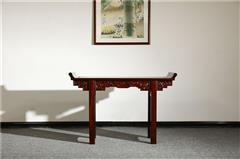 盘谷红木 阔叶黄檀 新古典红木家具 客厅系列 翘头案(1.28米,1.58米,1.8米)
