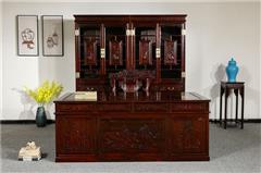 盘谷红木 阔叶黄檀 新古典红木家具 书房办公系列 清式书房 4件套