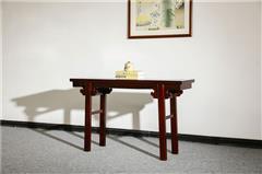 盘谷红木 阔叶黄檀平头案 新古典红木家具 客厅系列 平头案(1.28米,1.58米,1.8米)