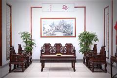 鸿运堂红木 老挝大红酸枝沙发(学名交趾黄檀) 大红酸枝如意卷书沙发8件套 高端红木沙发 明清古典沙发 红木家具 客厅系列