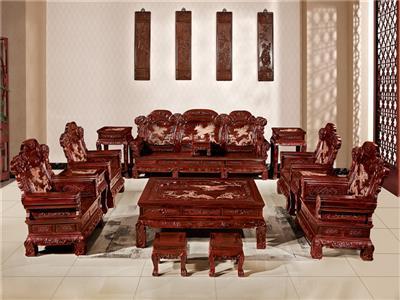 無名红木 印尼黑酸枝沙发(学名阔叶黄檀) 无名红木大展宏图沙发13件套 中式古典沙发 红木家具沙发 客厅系列