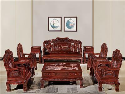無名红木 印尼黑酸枝沙发(学名阔叶黄檀) 无名红木文宝沙发10件套 中式古典沙发 红木家具沙发 客厅系列