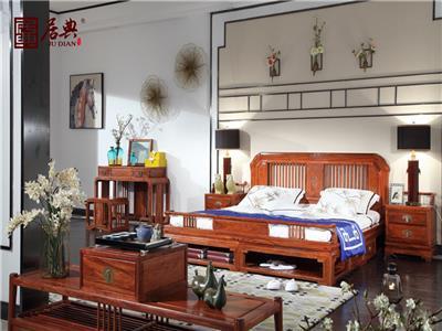 居典红木 刺猬紫檀大床 国标红木大床 新中式大床 带抽屉收纳实用配床头柜红木大床 卧室卧房系列 尚结大床