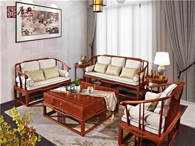 居典红木 刺猬紫檀沙发 新中式红木沙发 线条简约红木沙发 带软装清新红木沙发 客厅系列 悦几沙发