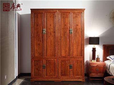 居典紅木 刺猬紫檀衣柜衣櫥 新古典衣櫥衣柜 中式簡約紅木衣柜衣櫥 臥室臥房系列  悅幾衣柜衣櫥