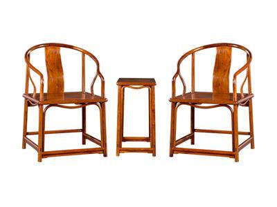 福建红桥红 缅甸花梨家具品牌 大果紫檀安思远圈椅3件套 古典圈椅家具 红木圈椅 国标红木家具 休闲客厅系列