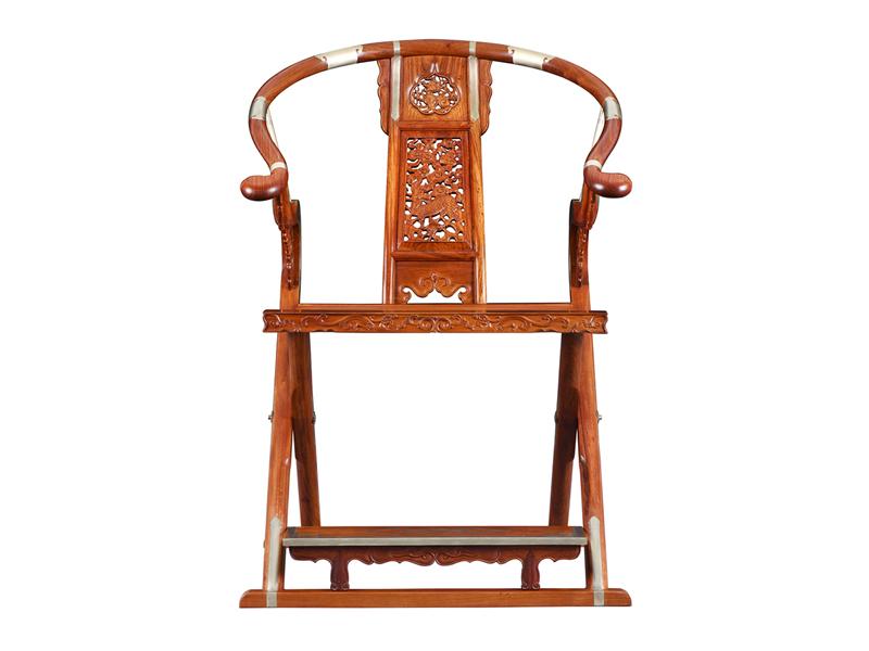福建紅橋紅 緬甸花梨家具品牌 大果紫檀交椅 清式古典家具 紅木交椅 國標紅木家具 休閑客廳系列