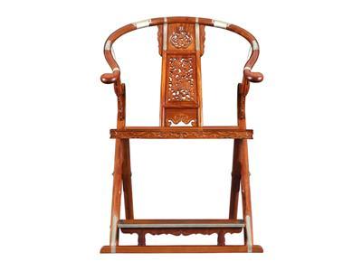 福建红桥红 缅甸花梨家具品牌 大果紫檀交椅 清式古典家具 红木交椅 国标红木家具 休闲客厅系列