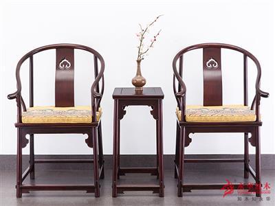 永華紅木 大紅酸枝 明式(明榫)獨板圈椅