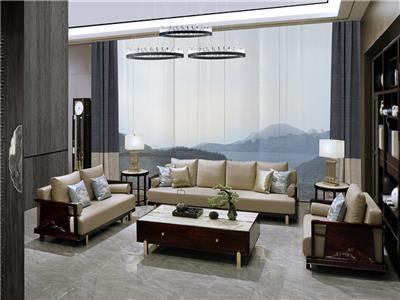 老周家居 上海老周红木 印尼黑酸枝沙发 阔叶黄檀沙发 现代中式沙发 客厅系列