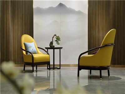 老周家居 上海老周红木 印尼黑酸枝(阔叶黄檀)座椅 现代中式休闲椅三件套 客厅系列
