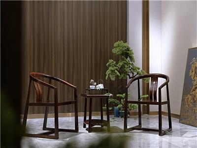 老周家居 上海老周红木 印尼黑酸枝(阔叶黄檀)圈椅 现代中式休闲椅三件套 客厅系列